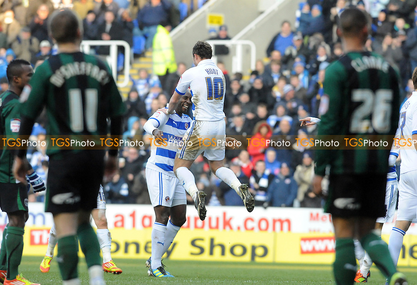Jason Roberts of Reading scores and celebrates - Reading vs Coventry City - nPower League Championship Football at the Madejski Stadium - 11/02/12 - MANDATORY CREDIT: Anne-Marie Sanderson/TGSPHOTO - Self billing applies where appropriate - 0845 094 6026 - contact@tgsphoto.co.uk - NO UNPAID USE.