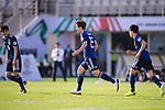 Osako Yuya of Japan (C) celebrates scoring the goal during the AFC Asian Cup UAE 2019 Group F match between Japan (JPN) and Turkmenistan (TKM) at Al Nahyan Stadium on 09 January 2019 in Abu Dhabi, United Arab Emirates. Photo by Marcio Rodrigo Machado / Power Sport Images