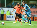 19/08/2010   Copyright  Pic : James Stewart.sct_jsp014_dundee_utd_v_aek_athens  .:: DAVID GOODWILLIE GETS AWAY FROM MAKOS GRIGORIS:: .James Stewart Photography 19 Carronlea Drive, Falkirk. FK2 8DN      Vat Reg No. 607 6932 25.Telephone      : +44 (0)1324 570291 .Mobile              : +44 (0)7721 416997.E-mail  :  jim@jspa.co.uk.If you require further information then contact Jim Stewart on any of the numbers above.........