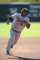 Richard Carthon #8 of the Tulane Green Wave runs the bases during a game against the Pepperdine Waves at Eddy D. Field Stadium on March 13, 2015 in Malibu, California. Tulane defeated Pepperdine, 9-3. (Larry Goren/Four Seam Images)