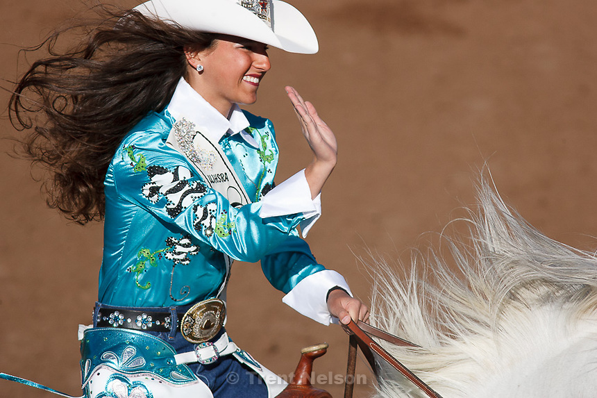 Trent Nelson  |  The Salt Lake Tribune.junior Rodeo queen competition at the Utah High School Rodeo Finals Saturday, June 9, 2012 in Heber City, Utah.