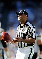 Sep. 20, 2009; San Diego, CA, USA; NFL referee (11) Fred Bryan during the game between the San Diego Chargers against the Baltimore Ravens at Qualcomm Stadium in San Diego. Baltimore defeated San Diego 31-26. Mandatory Credit: Mark J. Rebilas-