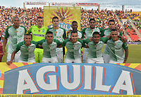 IBAGUE - COLOMBIA -  26 - 11 - 2017: Los jugadores de Atletico Nacional, posan para una foto durante partido de ida por la Liga Aguila II 2017 entre Deportes Tolima y Atletico Nacional,  jugado en el estadio Manuel Murillo Toro de la ciudad de Ibague. / Players of Atletico Nacional, pose for a picture during a match of the first leg for the Aguila League II 2016, between Deportes Tolima and Atletico Nacional,  played at Manuel Murillo Toro stadium in Ibague city. Photo: VizzorImage / Juan Carlos Escobar / Cont.