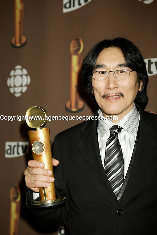 "Montreal (Qc) CANADA - March 29 2009 - Jutras award  Gala (for Quebec Cinema) : Natar Ungalaaq, Meilleur acteur (Best actor), Ce qu""il faut pour vivre (The Necessities of Life aka Inuujjutiksaq) ,"