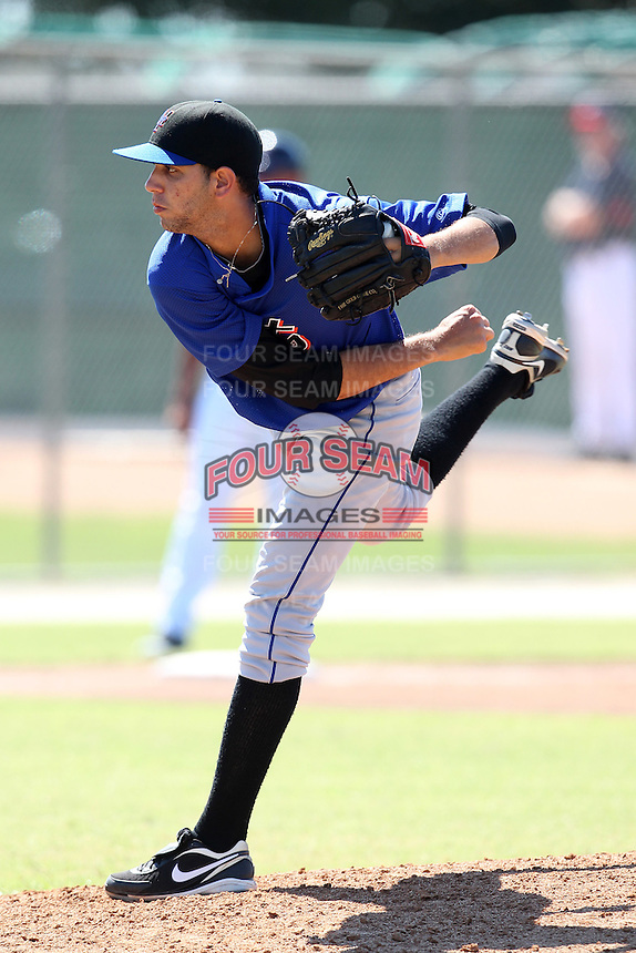 New York Mets pitcher Gabriel Ynoa #19 during an Instructional League game against the Minnesota Twins at Lee County Sports Complex on October 4, 2011 in Fort Myers, Florida.  (Mike Janes/Four Seam Images)