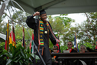 Jacques Lesure<br /> Families, friends, faculty, staff and distinguished guests celebrate the class of 2019 during Occidental College's 137th Commencement ceremony on Sunday, May 19, 2019 in the Remsen Bird Hillside Theater.<br /> (Photo by Marc Campos, Occidental College Photographer)