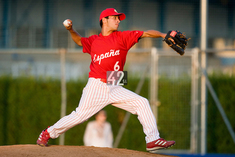 BASEBALL - EUROPEAN UNDER -21 CHAMPIONSHIP - PAMPELUNE (ESP) - 03 TO 07/09/2008 - PHOTO : CHRISTOPHE ELISE .JONATHAN GARCIA (SPAIN)