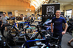 Owen Byrne from Northern Irish company Donard at Bespoked 2018 UK handmade bicycle show held at Brunel's Old Station & Engine Shed, Bristol, England. 21st April 2018.<br /> Picture: Eoin Clarke | Cyclefile<br /> <br /> <br /> All photos usage must carry mandatory copyright credit (© Cyclefile | Eoin Clarke)