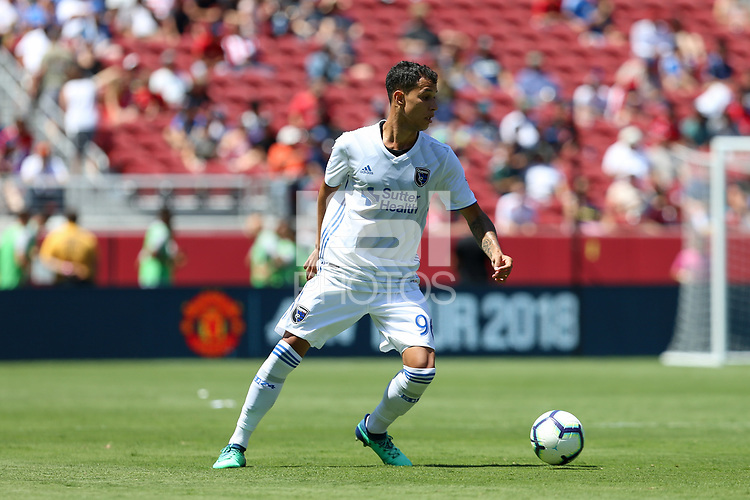 Santa Clara, CA - Sunday July 22, 2018: Luis Felipe during a friendly match between the San Jose Earthquakes and Manchester United FC at Levi's Stadium.