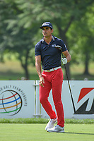 Rafael Cabrera Bello (ESP) watches his tee shot on 3 during 1st round of the World Golf Championships - Bridgestone Invitational, at the Firestone Country Club, Akron, Ohio. 8/2/2018.<br /> Picture: Golffile | Ken Murray<br /> <br /> <br /> All photo usage must carry mandatory copyright credit (&copy; Golffile | Ken Murray)