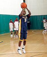 April 10, 2011 - Hampton, VA. USA;  Jevon Thomas participates in the 2011 Elite Youth Basketball League at the Boo Williams Sports Complex. Photo/Andrew Shurtleff