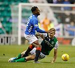 19.12.2018 Hibs v Rangers: Ryan Porteous tackles Lassana Coulibaly