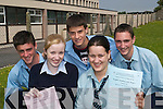 Leaving Cert: Students after completing their first paper in the 2007 Leaving Certificate exams at St Joseph's Secondary.School, Ballybunion, were Megan Allen, Michelle Tydings, Shane Joy, Scott Kelliher and Jer O'Gorman.
