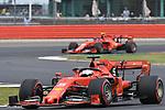 12.07.2019, Silverstone Circuit, Silverstone, FORMULA 1 ROLEX BRITISH GRAND PRIX 2019<br />  , im Bild<br /> Sebastian Vettel (GER#5), Scuderia Ferrari Mission Winnow, Charles Leclerc (MCO#16), Scuderia Ferrari Mission Winnow<br /> <br /> Foto © nordphoto / Bratic