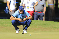 Andrea Pavan (ITA) on the 10th green during Thursday's Round 1 of the 2018 Turkish Airlines Open hosted by Regnum Carya Golf &amp; Spa Resort, Antalya, Turkey. 1st November 2018.<br /> Picture: Eoin Clarke | Golffile<br /> <br /> <br /> All photos usage must carry mandatory copyright credit (&copy; Golffile | Eoin Clarke)