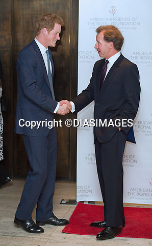"PRINCE HARRY GREETS JOHN STUDZINSKI.President of the American Friends of The Royal Foundation at the  fund raising dinner for the Foundation of the Duke and Duches of Cambridge and Prince Harry at the Four Season Restaurant, New York_14/05/2103.Prince Harry is on a week long USA visit the includes Washington, Denver, Colorado Springs, New Jersey, New York and Conneticut..Mandatory credit photo: ©DIASIMAGES...NO UK USE UNTIL 13/5/2013.(Failure to credit will incur a surcharge of 100% of reproduction fees)..**ALL FEES PAYABLE TO: ""NEWSPIX  INTERNATIONAL""**..Newspix International, 31 Chinnery Hill, Bishop's Stortford, ENGLAND CM23 3PS.Tel:+441279 324672.Fax: +441279656877.Mobile:  07775681153.e-mail: info@newspixinternational.co.uk"