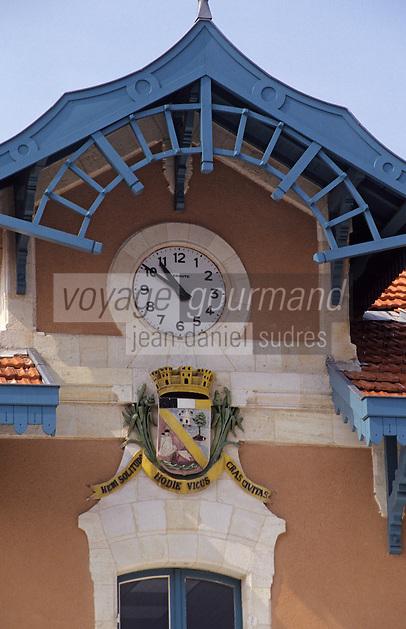 Europe/France/Aquitaine/33/Gironde/Bassin d'Arcachon/Arcachon: La gare - Détail des armes de la ville