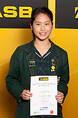 Girls Table Tennis winner Jennifer Tseng from St Cuthberts College. ASB College Sport Young Sportsperson of the Year Awards held at Eden Park, Auckland, on November 24th 2011.