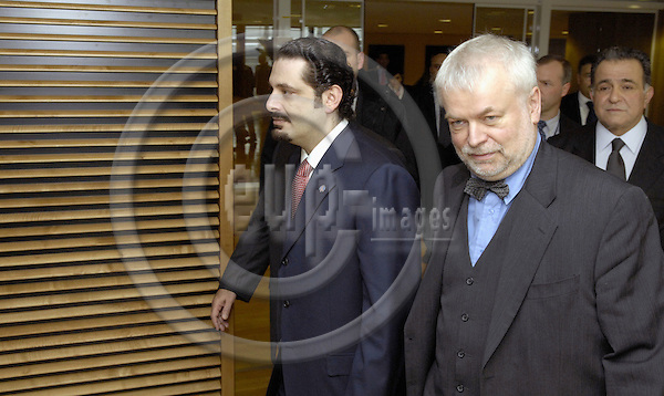 Brussels-Belgium - 28 February 2007---Saad HARIRI (le), leader of the parliamentary majority in Lebanon, visits the European Commission; here, with Ex-MEP Frank SCHWALBA-HOTH (ri)---Photo: Horst Wagner/eup-images