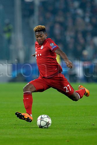 23.02.2016. Turin, Italy. UEFA Champions League football. Juventus versus Bayern Munich.  David Alaba has a shot at goal