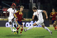 Spain's Canales and Norway's Ibrahim (l), Rogne during an International sub21 match. March 21, 2013.(ALTERPHOTOS/Alconada) /NortePhoto