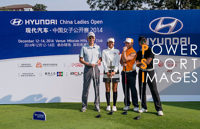 Players in action during the Hyundai China Ladies Open 2014 Pro-am on December 09 2014, in Shenzhen, China. Photo by Li Man Yuen / Power Sport Images