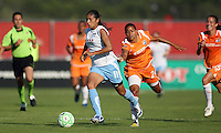 Red Stars forward Cristiane eludes fellow Brazilian Francielle. Sky Blue FC defeated the Chicago Red Stars 1-0 on Sunday, July 19, 2009.