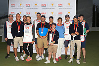Brendan Lawlor (International) with team mates and caddies after winning the ISPS HANDA Disabled Golf Cup at the Presidents Cup 2019, Royal Melbourne Golf Club, Melbourne, Victoria, Australia. 13/12/2019.<br /> Picture Thos Caffrey / Golffile.ie<br /> <br /> All photo usage must carry mandatory copyright credit (© Golffile   Thos Caffrey)