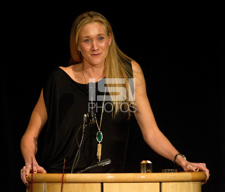 Kerri Walsh during her speech at Stanford Athletics Hall of Fame, event on November 11, 2011, at the Alumni Center.  ( Norbert von der Groeben )