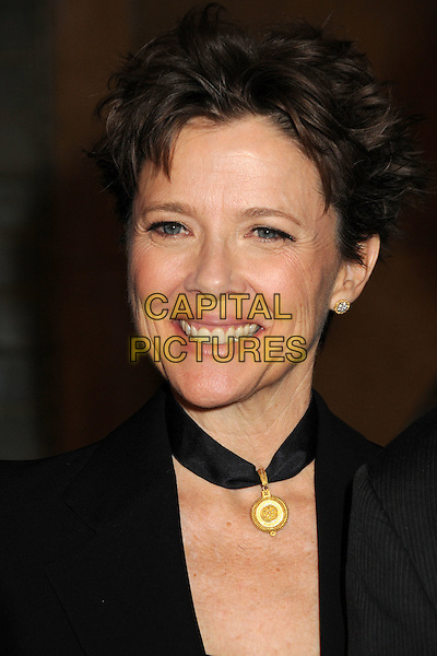 "ANNETTE BENING .""Mother and Child"" Los Angeles Premiere held at Grauman's Egyptian Theatre, Hollywood, California, USA..April 19th, 2010.headshot portrait black gold choker necklace smiling .CAP/ADM/BP.©Byron Purvis/AdMedia/Capital Pictures."