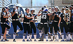 Western Nevada&rsquo;s Kacie Freudenberger celebrates a 2-run homer against College of Southern Nevada at Edmonds Sports Complex in Carson City, Nev., on Friday, April 1, 2016. <br />Photo by Cathleen Allison/Nevada Photo Source
