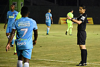MONTERIA - COLOMBIA, 06-04-2018: Mario Herrera, árbitro, durante el encuentro entre Jaguares FC y Envigado FC  por la fecha 13 de la Liga Aguila I 2018 jugado en el estadio Municipal de Monteria. / Mario Herrera, referee, during the match between Jaguares FC and Envigado FC for the date 13 of the Liga Aguila I 2018 at the Municipal de Monteria Stadium in Monteria city. Photo: VizzorImage / Andres Felipe Lopez / Cont