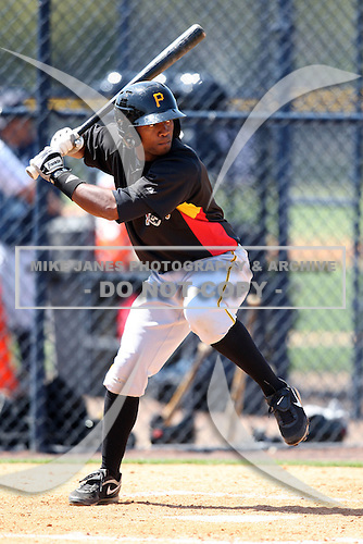 March 31, 2010:  Infielder Rodolfo Cardona of the Pittsburgh Pirates organization during Spring Training at the Yankees Training Complex in Tampa, FL.  Photo By Mike Janes/Four Seam Images