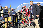 Alexander Kristoff (NOR) Team Katusha Alpecin at sign on for the 115th edition of the Paris-Roubaix 2017 race running 257km Compiegne to Roubaix, France. 9th April 2017.<br /> Picture: Eoin Clarke | Cyclefile<br /> <br /> <br /> All photos usage must carry mandatory copyright credit (&copy; Cyclefile | Eoin Clarke)