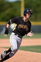 Pittsburgh Pirates Erich Weiss (38) during a minor league spring training game against the New York Yankees on March 28, 2015 at Pirate City in Bradenton, Florida.  (Mike Janes/Four Seam Images)