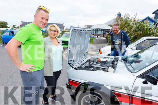 Susie Crean, Robert O'Riordan and Eric Calanan admiring the Ford Fiesta at the Irish Ford Fair in Banna on Sunday