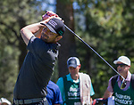 Marty Fish hit a tee shot during the ACC Golf Tournament at Edgewood Tahoe Golf Course in South Lake Tahoe on Sunday, July 14, 2019.
