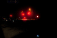 Night view of vehicles driving on Route 45 following the 311 Tohoku Tsunami in Motoyoshi, Japan  © LAN