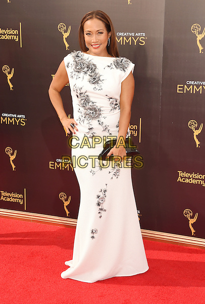 LOS ANGELES, CA - SEPTEMBER 11: Dancer Carrie Ann Inaba attends the 2016 Creative Arts Emmy Awards held at Microsoft Theater on September 11, 2016 in Los Angeles, California.<br /> CAP/ROT/TM<br /> &copy;TM/ROT/Capital Pictures