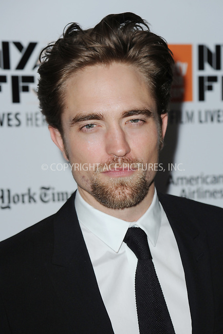 www.acepixs.com<br /> October 15, 2016  New York City<br /> <br /> Robert Pattinson arriving to the 54th New York Film Festival  'The Lost City of Z' premiere on October 15, 2016 in New York City.<br /> <br /> <br /> Credit: Kristin Callahan/ACE Pictures<br /> <br /> <br /> Tel: 646 769 0430<br /> Email: info@acepixs.com