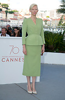 Actress Tilda Swinton attends the photocall of the movie 'Okja' during the 70th Annual Cannes Film Festival at Palais des Festivals in Cannes, France, on 19 May 2017. - NO WIRE SERVICE · Photo: Hubert Boesl/dpa /MediaPunch ***FOR USA ONLY***