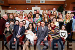 CHRISTENING CELEBRATION: Baby Emily Jane Moriarty, Clogherbrien, Tralee pictured front with her parents Laura Gibney and Martin Moriarty, her godparents Anthony Moriarty and Sandra Gibney and surrounded by family and friends at her christening party