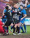 Pars' Ryan Thomson (centre) celebrates after he scores their first goal.