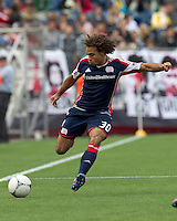 New England Revolution defender Kevin Alston (30) at midfield. In a Major League Soccer (MLS) match, the New England Revolution defeated Portland Timbers, 1-0, at Gillette Stadium on March 24, 2012