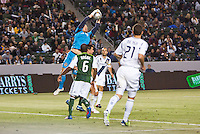 Carson, California - Saturday April 14, 2012: The LA Galaxy defeated the Portland Timbers 3-1 at Home Depot Center stadium during an MLS game.
