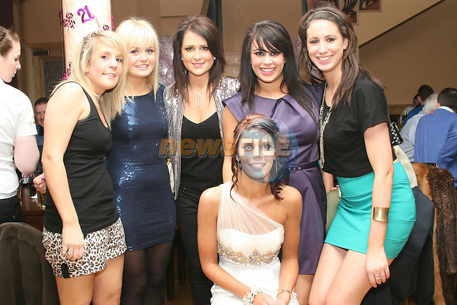 Jennifer O'Hare, Patrice Dunne, Tracey Thornton, Claire Keane and Julie Collins with Sinead Sweeney at her 21st in the Thatch...Photo NEWSFILE/Jenny Matthews.(Photo credit should read Jenny Matthews/NEWSFILE)....This Picture has been sent you under the condtions enclosed by:.Newsfile Ltd..The Studio,.Millmount Abbey,.Drogheda,.Co Meath..Ireland..Tel: +353(0)41-9871240.Fax: +353(0)41-9871260.GSM: +353(0)86-2500958.email: pictures@newsfile.ie.www.newsfile.ie.FTP: 193.120.102.198.