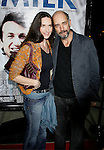 """BEVERLY HILLS, CA. - November 13: Actress Sheila Kelley (L) and Richard Schiff arrive at the Los Angeles Premiere of """"Milk"""" at the Academy of Motion Pictures Arts and Sciences on November 13, 2008 in Beverly Hills, California."""