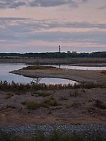 The coal ash pond near the Belews Creek Steam Station, a coal-fired generator at Belews Creek, North Carolina, Saturday, October 12, 2019 .(Justin Cook)