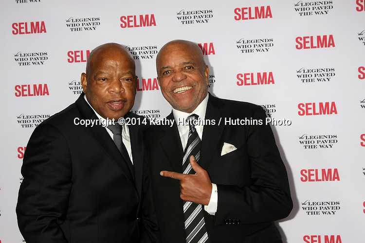 "SANTA BARBARA - DEC 6:  John Lewis, Berry Gordy at the ""Selma"" & Legends Who Paved the Way Gala at the Bacara Resort & Spa on December 6, 2014 in Goleta, CA"