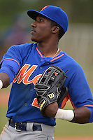 New York Mets outfielder Champ Stuart (29) during a minor league spring training game against the St. Louis Cardinals on March 27, 2014 at the Port St. Lucie Training Complex in Port St. Lucie, Florida.  (Mike Janes/Four Seam Images)
